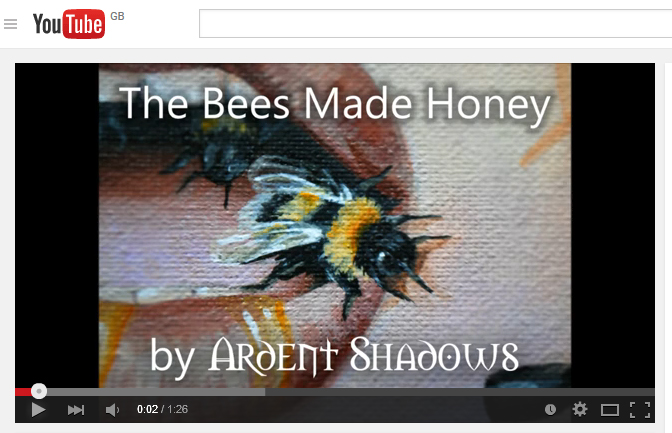 Painting Video - The Bees Made Honey